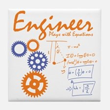 Engineer tshirt Tile Coaster