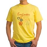 Engineer Mens Yellow T-shirts
