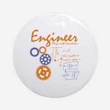 Engineer tshirt Round Ornament