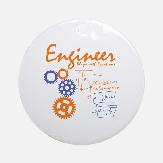 Engineer tshirt Round Ornament