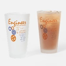 Engineer tshirt Drinking Glass