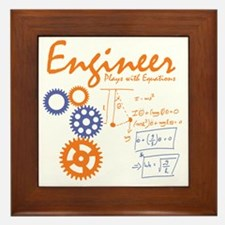 Engineer tshirt Framed Tile