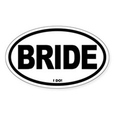 Bride Oval Oval Decal