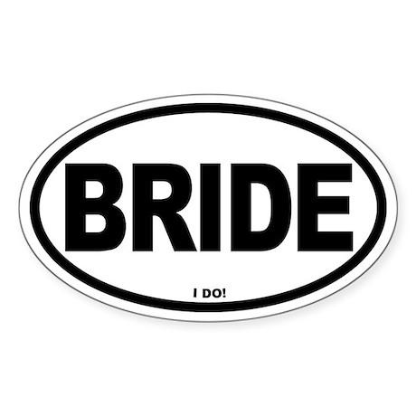 Bride Oval Oval Sticker