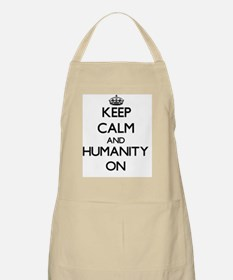 Keep Calm and Humanity ON Apron