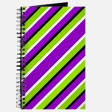 Straight Green And Purple Journal