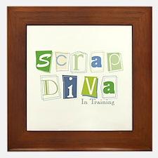 Scrap Diva (IT) Blue Framed Tile