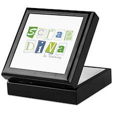 Scrap Diva (IT) Blue Keepsake Box