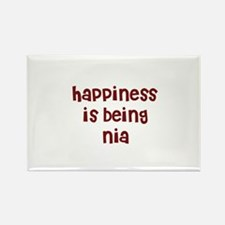 happiness is being Nia Rectangle Magnet