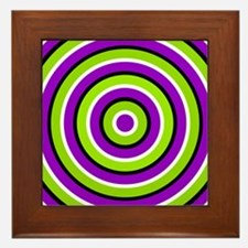 Round Green And Purple Framed Tile
