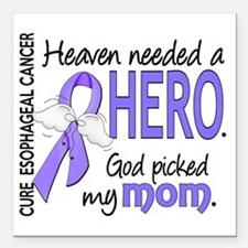 "Esophageal Cancer Heaven Square Car Magnet 3"" x 3"""