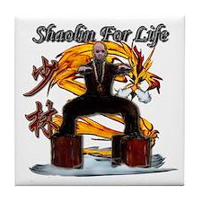 Shaolin Kanji Dragon Monk Tile Coaster