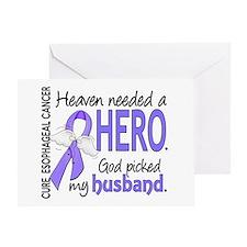 Esophageal Cancer HeavenNeededHero1 Greeting Card