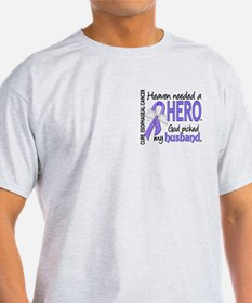 Esophageal Cancer HeavenNeededHero1 T-Shirt