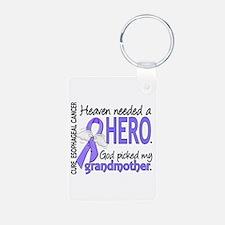 Esophageal Cancer HeavenNe Aluminum Photo Keychain