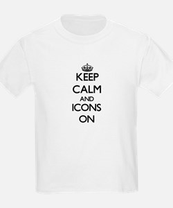 Keep Calm and Icons ON T-Shirt