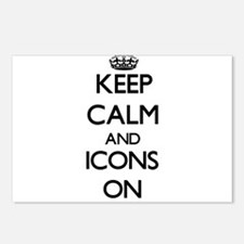 Keep Calm and Icons ON Postcards (Package of 8)