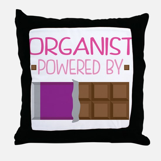 Organist Funny Music Throw Pillow