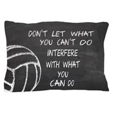 Can do volleyball motivational Pillow Case