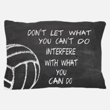 Can do volleyball motivational Pillow Case