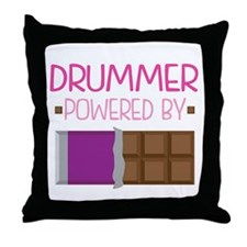 Drummer (Funny) Throw Pillow