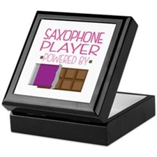 Saxophone Player (Funny) Keepsake Box