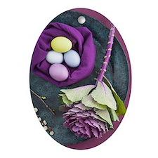 Easter still life Oval Ornament