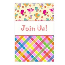 BABY SHOWER - GIRL Postcards (Package of 8)