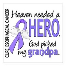 """Esophageal Cancer Heaven Square Car Magnet 3"""" x 3"""""""