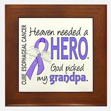 Esophageal Cancer HeavenNeededHero1 Framed Tile