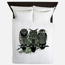Three Owls Queen Duvet