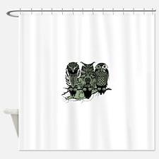 Three Owls Shower Curtain