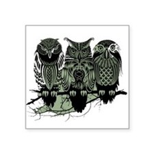 Three Owl Sticker