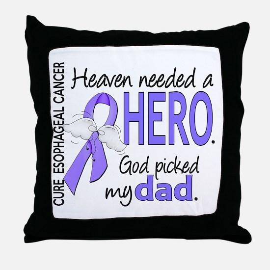 Esophageal Cancer HeavenNeededHero1 Throw Pillow