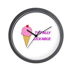 TOTALLY LICKABLE Wall Clock