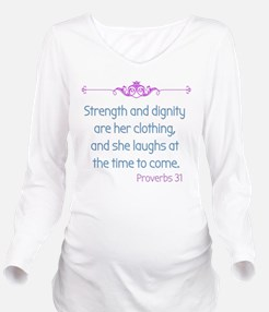 Proverbs 31 woman Long Sleeve Maternity T-Shirt