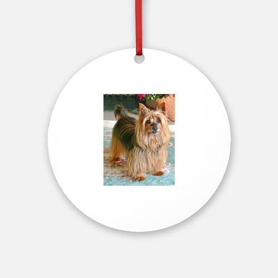 Australian Silky Terrier Round Ornament
