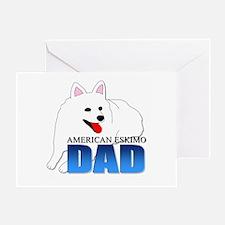 American Eskimo Dad Greeting Card