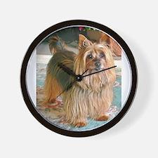 Australian Silky Terrier Wall Clock