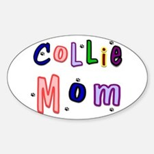 Collie Mom Oval Decal
