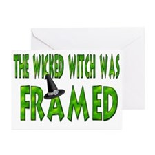 Wicked Witch Was Framed Greeting Cards (Pk of 20)