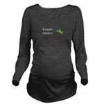 Veggie Addict Long Sleeve Maternity T-Shirt