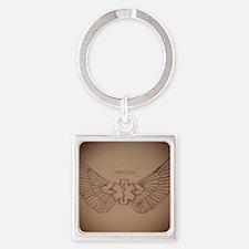 EMS Angel Square Keychain