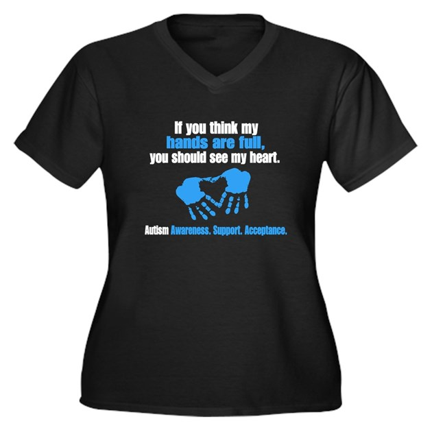 If you think my hands are full women 39 s plus size v neck for Full hand t shirts for womens