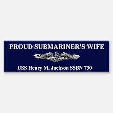 Silver HMJ WifeBumper Bumper Bumper Sticker