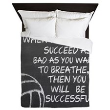 Successful Volleyball Motivational Queen Duvet