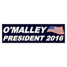 Martin O'Malley President 2016 Bumper Sticker