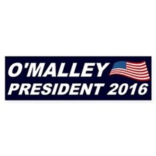 Martin O'Malley President 2016 Car Sticker