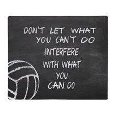 Can do volleyball motivational Throw Blanket