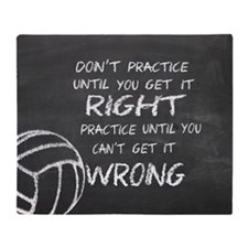 Practice volleyball motivational Throw Blanket